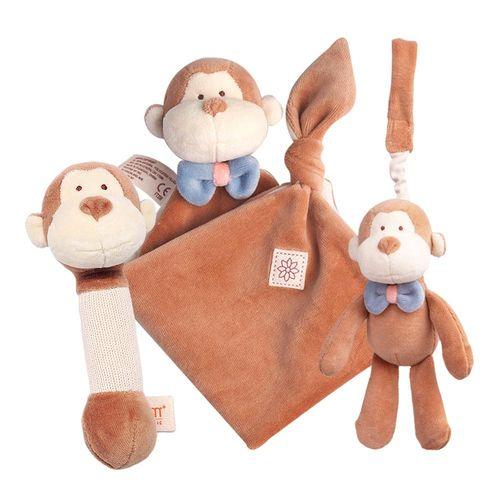 miYim 有 機棉安撫玩具禮盒組 布布小猴★衛立兒生活館★
