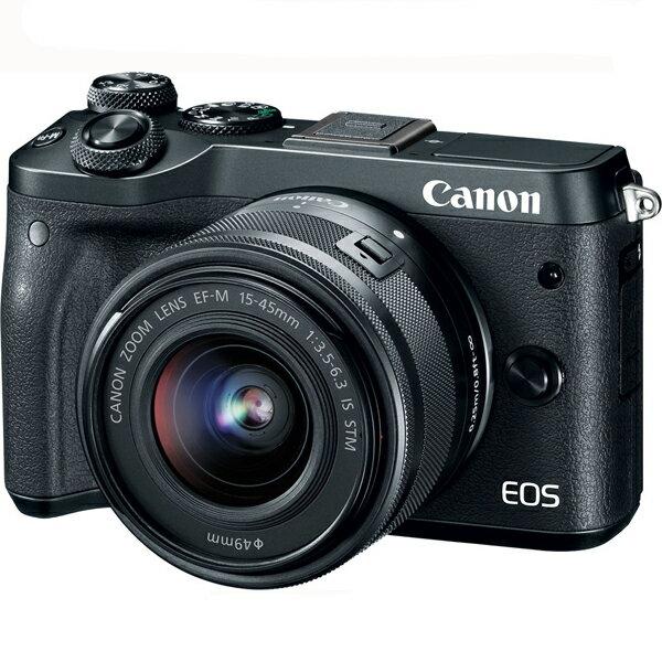 Canon EOS M6 KIT 雙鏡組 (15-45+55-200) 彩虹公司貨 可分期含稅免運