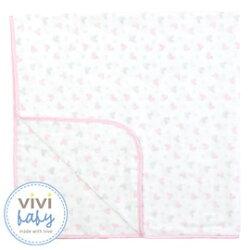ViViBaby - Disney迪士尼超柔四方紗布浴巾 (粉)