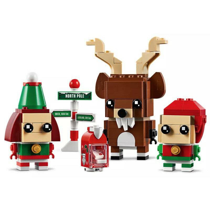 【LETGO】全新未拆 正版 LEGO 樂高積木 40353 馴鹿與聖誕精靈 大頭 鹿 小妖精 聖誕節 交換禮物