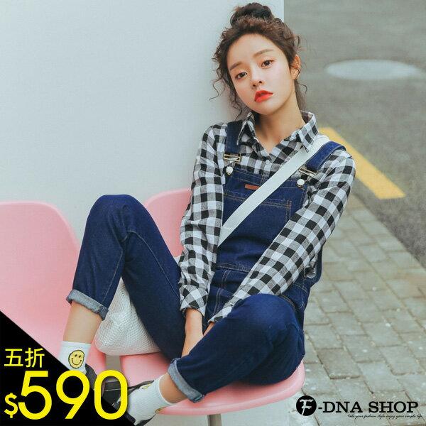F~DNA~車線大口袋單寧牛仔連身褲吊帶褲 S~XL ~ETA1895~