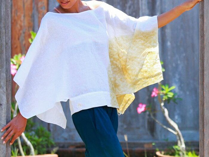 【Bali】亞麻布簡約罩衫 瑜珈服 5