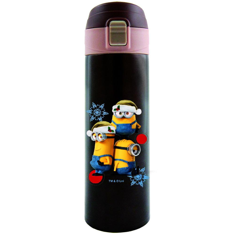 【SANSUI 山水】小小兵超輕量彈蓋保溫瓶〈480ml〉 (咖/粉紅)