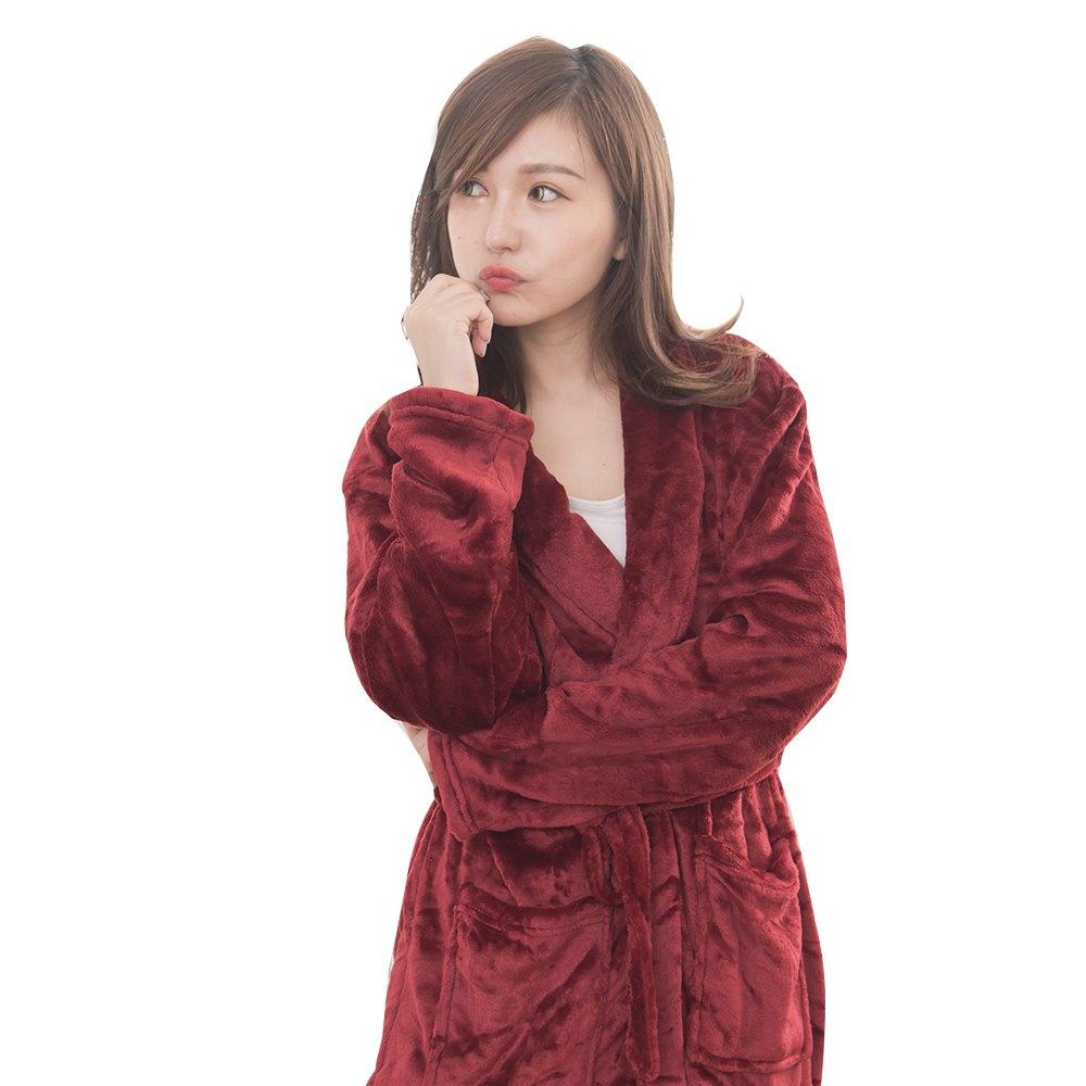 M / L / XL法蘭絨男女浴袍睡袍(經典紅 / 經典白 / 經典黑) 4