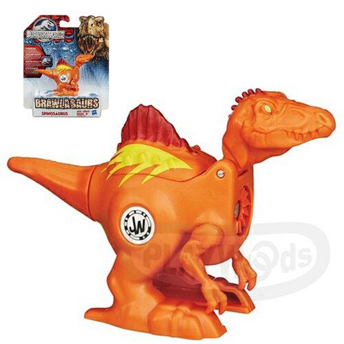 【Playwoods】[侏儸紀世界Jurassic World]戰鬥恐龍組-棘龍Spinosaurus(旋轉式發條/對戰/孩之寶/Hasbro/侏羅紀公園/努布拉島/肉食性/帝王暴龍/迅猛龍/雷龍/翼龍/滄龍/電影版)