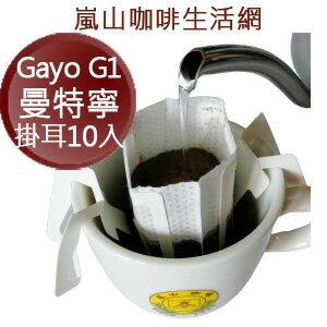 Gayo DP G1曼特寧濾掛咖啡10入袋裝,[嵐山咖啡烘焙專家] 北市典藏咖啡館30多年專業在台烘焙!