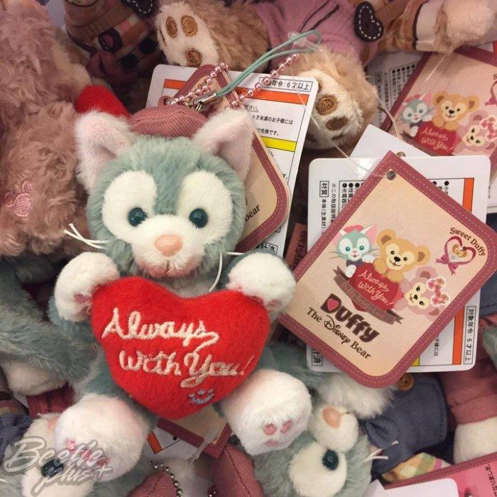 BEETLE PLUS 全新 現貨 DISNEY 迪士尼 DUFFY 2017情人節 樂園限定 畫家貓 鑰匙圈 坐姿玩偶 吊飾 J-81