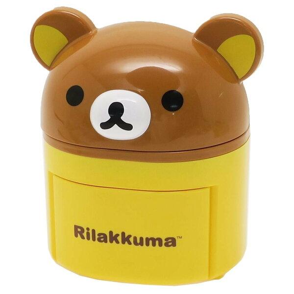 X射線【C030508】懶熊Rilakkuma立體造型開口笑小物置物桶,飾品盒收納盒小物置物架桌上收納筆筒