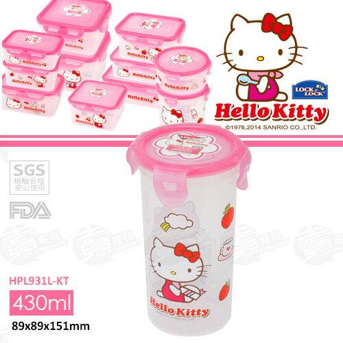 ﹝賣餐具﹞430毫升 樂扣 HELLO KITTY 圓筒型保鮮盒 HPL931L-KT /2501010138342