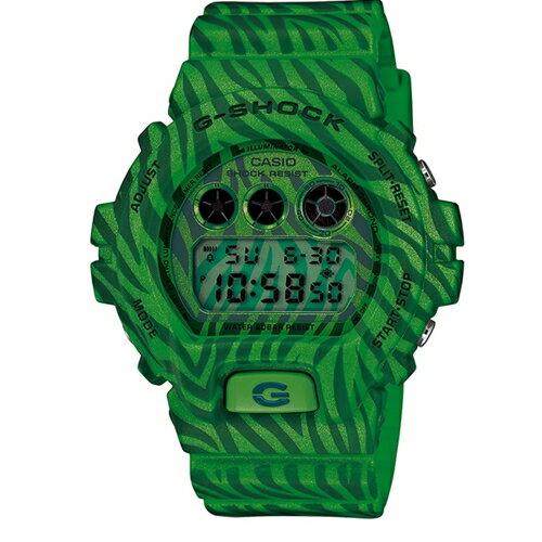 CASIO G-SHOCK/森林狂野斑馬紋路運動腕錶/DW-6900ZB-3