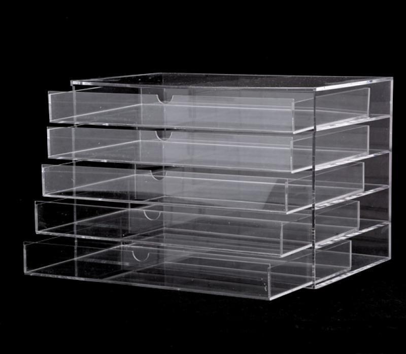 Cosmetic Jewelry Organizer 5 Drawer acrylic Box 2