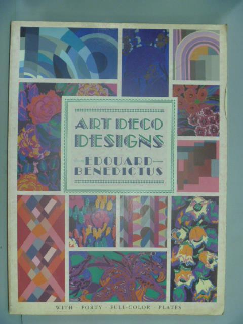 ~書寶 書T4/ _YKF~Art Deco Designs_ Edouard Bened
