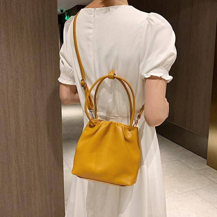 水桶包 夏季包包女包2020新款潮小清新韓版斜背包時尚百搭ins側背水桶包