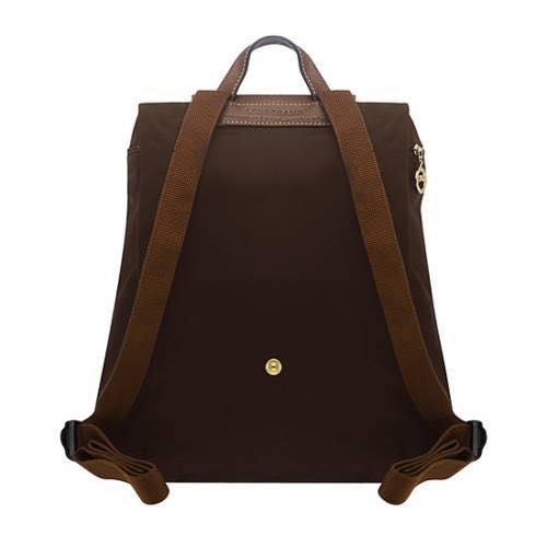 【LONGCHAMP】 LE PLIAGE 咖啡色折疊後背包 2