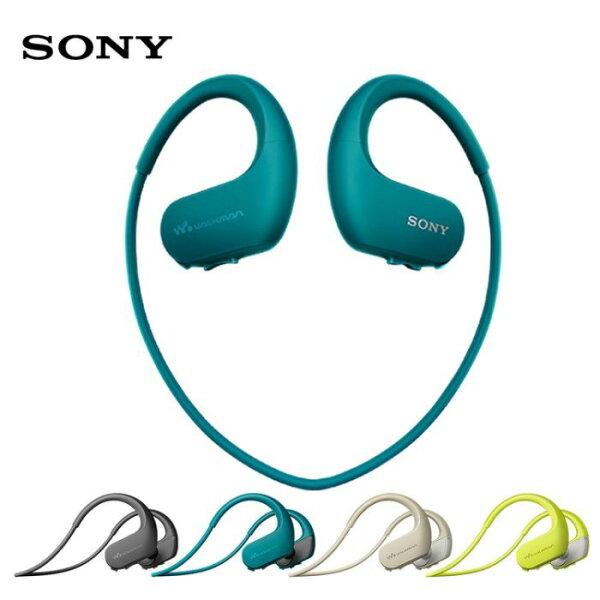 領券再折六期零利率SONY無線入耳頸掛耳機NFC防水運動藍芽耳機NW-WS6234GB免運費附游泳專用耳塞一組公司貨
