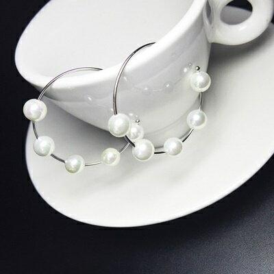 925純銀耳環珍珠耳飾~簡約優雅唯美絢麗生日情人節 女飾品73ia69~ ~~米蘭 ~