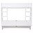 Wall Mounted Floating Computer Desk with Storage Shelves Laptop Home Office Furniture Work White 2