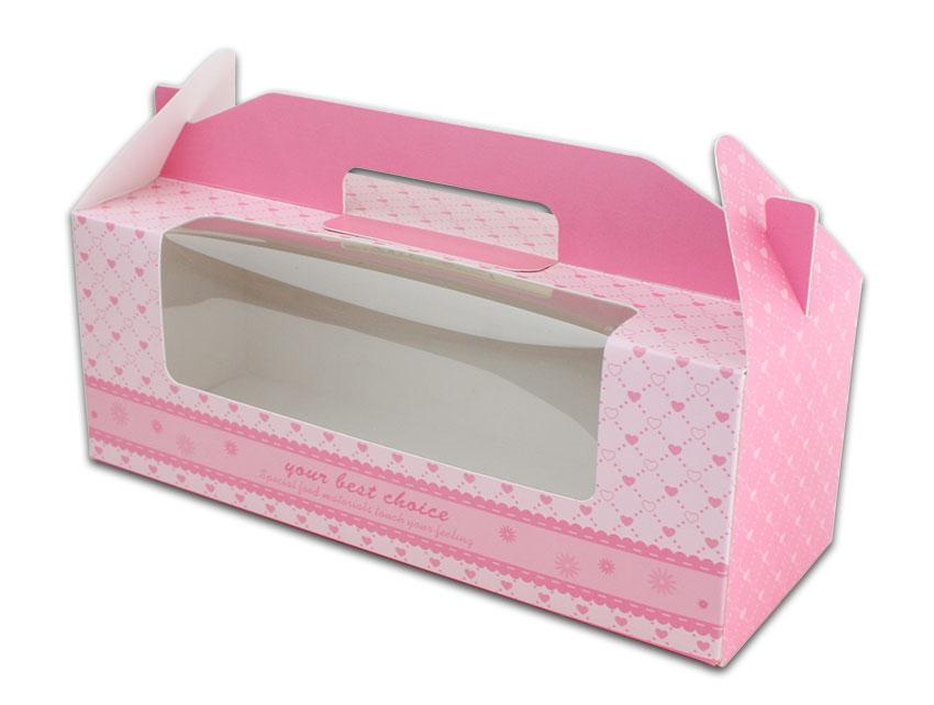 外帶盒、包裝盒、手提盒  3格提盒 MS-3-B(粉色愛心)5 pcs附底托