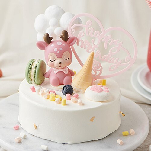 萌萌鹿幻想世界  6吋【PATIO帕堤歐】造型蛋糕/生日蛋糕/卡通蛋糕