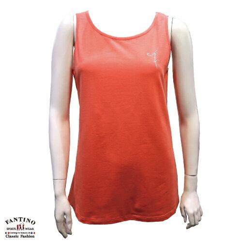 【FANTINO】女裝Lycra萊卡添加無袖背心可單穿 (桔) 571107 0