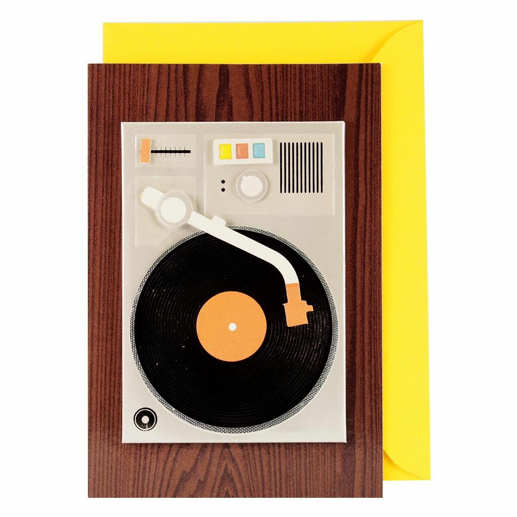 剪刀石頭紙【Signature 系列】立體傳統唱盤機