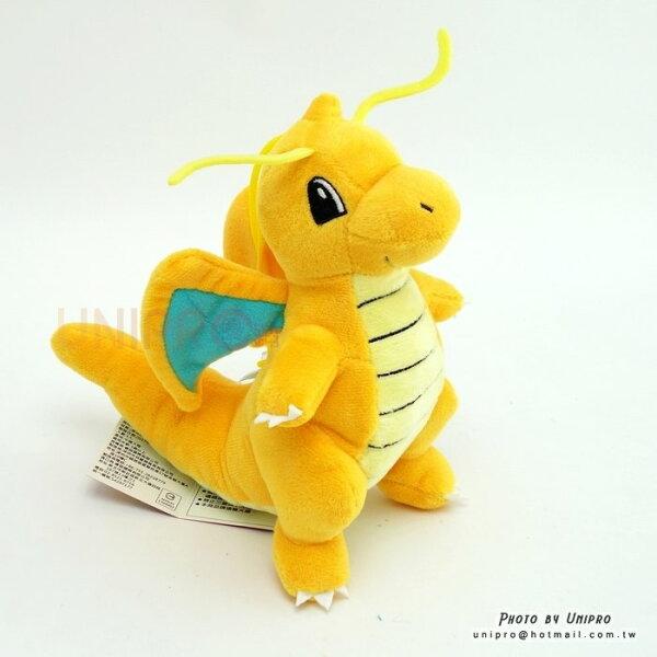 【UNIPRO】神奇寶貝XY快龍Dragonite31公分絨毛娃娃玩偶禮物正版授權寶可夢PokemonGo龍系精靈