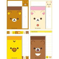 【真愛日本】18022400023 日本製懶熊新版信套組-大臉  san-x 拉拉熊 懶熊 信套組 信封 信紙 收藏