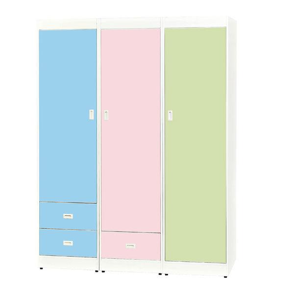 【石川家居】18GI11-0 單開門衣櫃(右邊綠色款)(不含粉紅與藍色兩款) #訂製預購款式 #南亞塑鋼B