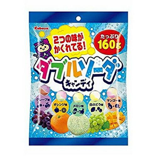 【Kabaya卡巴】雙倍蘇打綜合水果糖-葡萄/橘子/哈密瓜/白葡萄/芒果 140g ??? ??????????? 日本零食