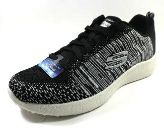 [陽光樂活] Skechers (男) ENERGY BURST 爆裂紋大底 男休閒鞋 訓練鞋 時尚 百搭 織帶款 - 52107BKW-1 黑