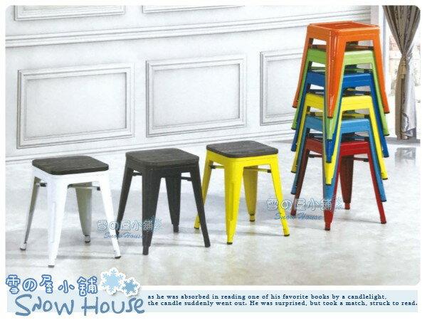 ╭☆雪之屋居家生活館☆╯R587-01/02/03/04 工業風餐椅(方鐵凳+坐板)/造型椅/會客椅/北歐風情
