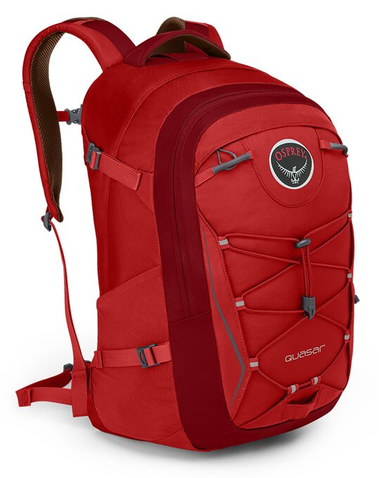 【鄉野情戶外用品店】 Osprey |美國|  QUASAR 28 電腦背包《男款》/15吋筆電背包 城市背包 旅行背包 -艷麗紅/Quasar28 【容量28L】