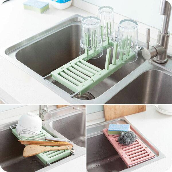 水槽兩用伸縮瀝水架瀝水折疊杯子瀝水✤朵拉伊露✤