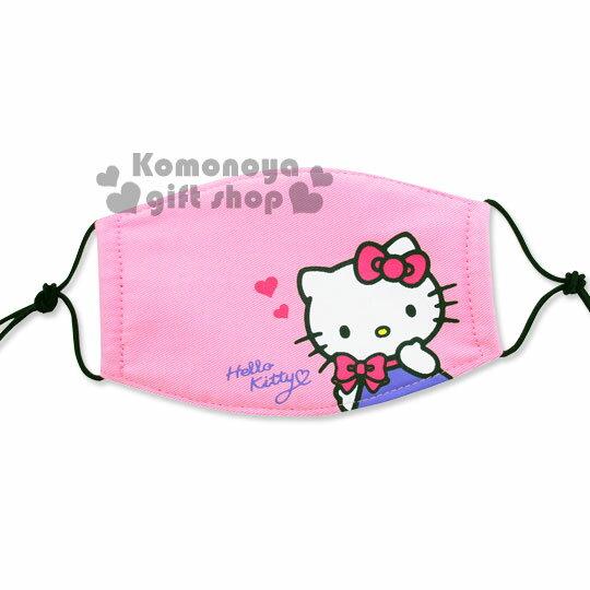〔小禮堂〕Hello Kitty 成人平面口罩《粉.蝴蝶結.摸下巴》感冒對策用品