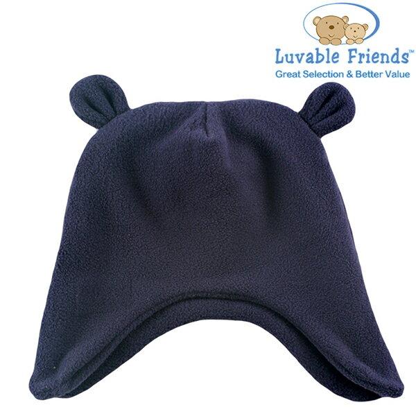 美國 Hudson Baby Luvable Friends 嬰幼用品 造型寶寶帽 小熊 - 深藍色