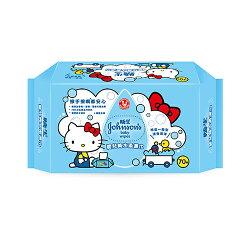 嬌生 嬰兒加厚純水濕巾(Kitty)70片【愛買】