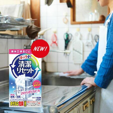 日本LION獅王流理台排水口泡沫清潔劑80g消臭除菌清潔廚房流理台排水口清潔劑【B063192】