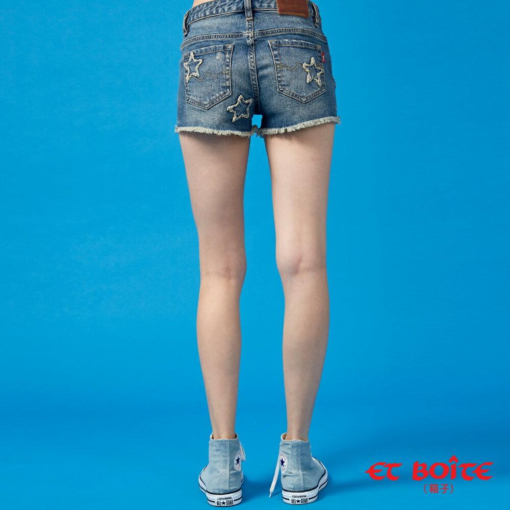 【春夏新品】五角星立體彈性丹寧短褲(牛仔藍) - BLUE WAY  ET BOiTE 箱子 2