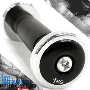 電鍍1公斤啞鈴^(橡膠握把^)單支1KG啞鈴 2.2磅電鍍啞鈴.重力舉重量訓練. 健身器材