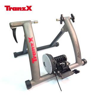 Tranz X JD-128磁阻式訓練台 噴砂灰/城市綠洲(腳踏車.健身車.訓練台.立車架.自行車訓練器)