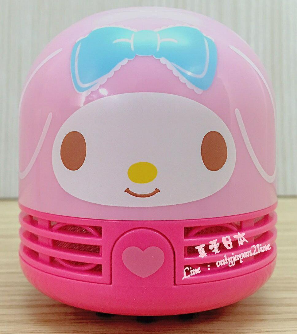 【真愛日本】16082700011桌上吸塵器-MM大臉粉  三麗鷗家族 Melody 美樂蒂  吸塵器 清潔 居家用品