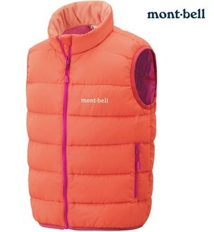 Mont-Bell 小朋友羽絨背心/兒童保暖背心 Neige 小童款 1101557 珊瑚粉紅COPK montbell