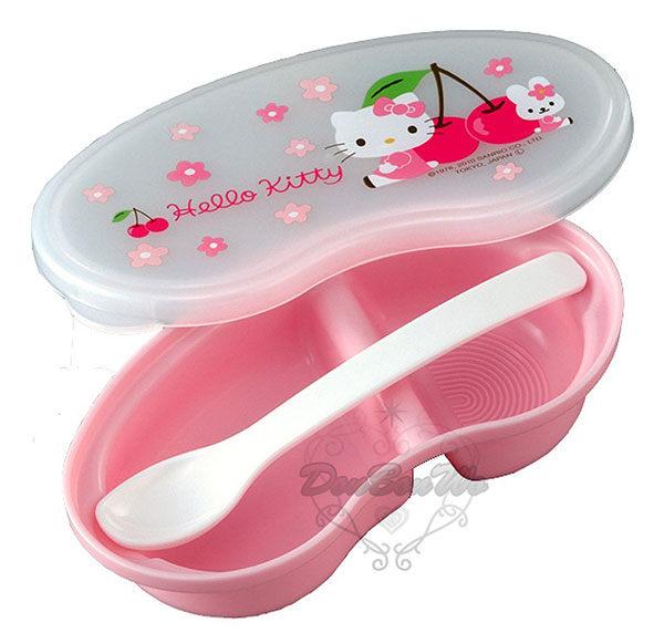 KITTY食物餐盒保鮮盒櫻桃小花079078海渡