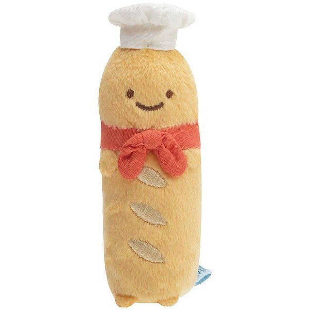 【積文館】法國麵包店長絨毛娃娃 日本進口 角落小生物 角落公仔 玩偶 吊飾(3*9cm) 0