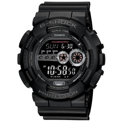 Casio G-Shock GD100-1B Chrono Quartz Resin Men's Watch 0