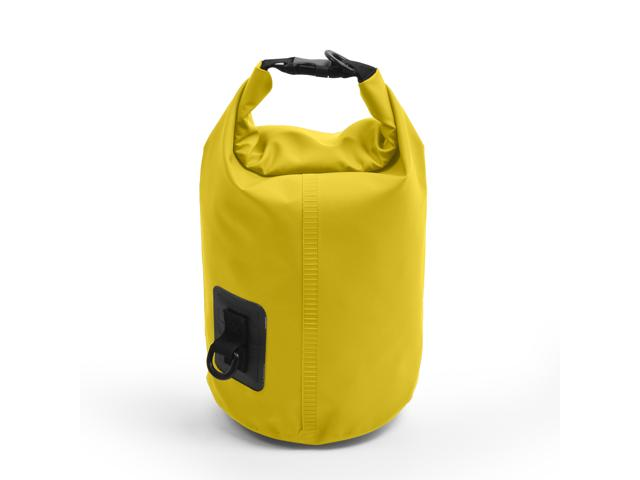 5L Waterproof Floating Water Resistant Dry Bag for Swimming Boating Camping Biking Yellow Nylon 1