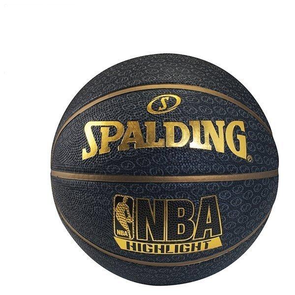 【H.Y SPORT】斯伯丁SPALDING Highlight Rubber 籃球 7號 金#SPA73901