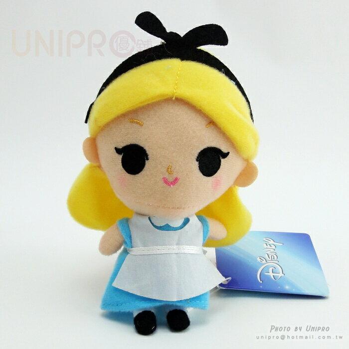【UNIPRO】迪士尼正版 愛麗絲 公主 14公分高 絨毛娃娃 站姿玩偶 吊飾 禮物 艾莉絲