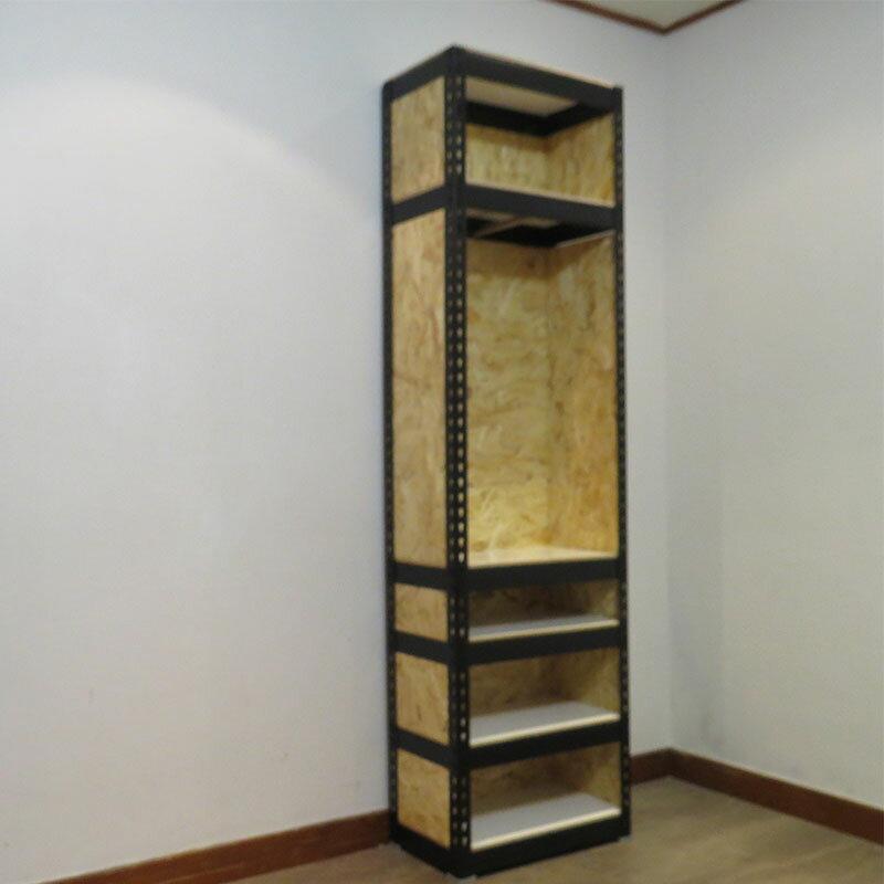 〔專業客製〕 收納置物櫃 角鋼衣架 消光黑多層掛衣架 空間特工【LRB2010BO】