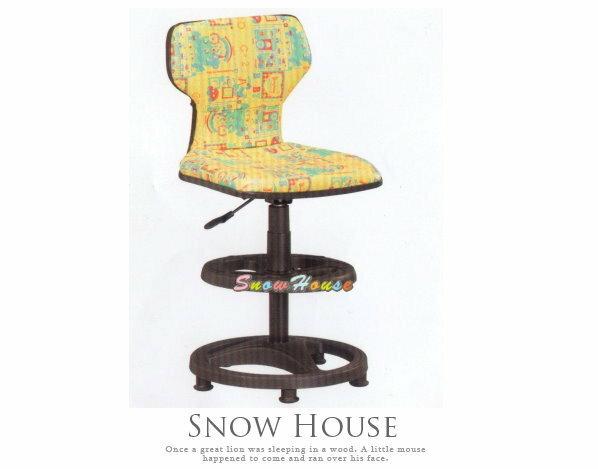 ╭☆雪之屋居家生活館☆╯AA302-03 ST-02C多功能學童椅/兒童電腦椅/氣壓升降/固定黑腳(黃色)